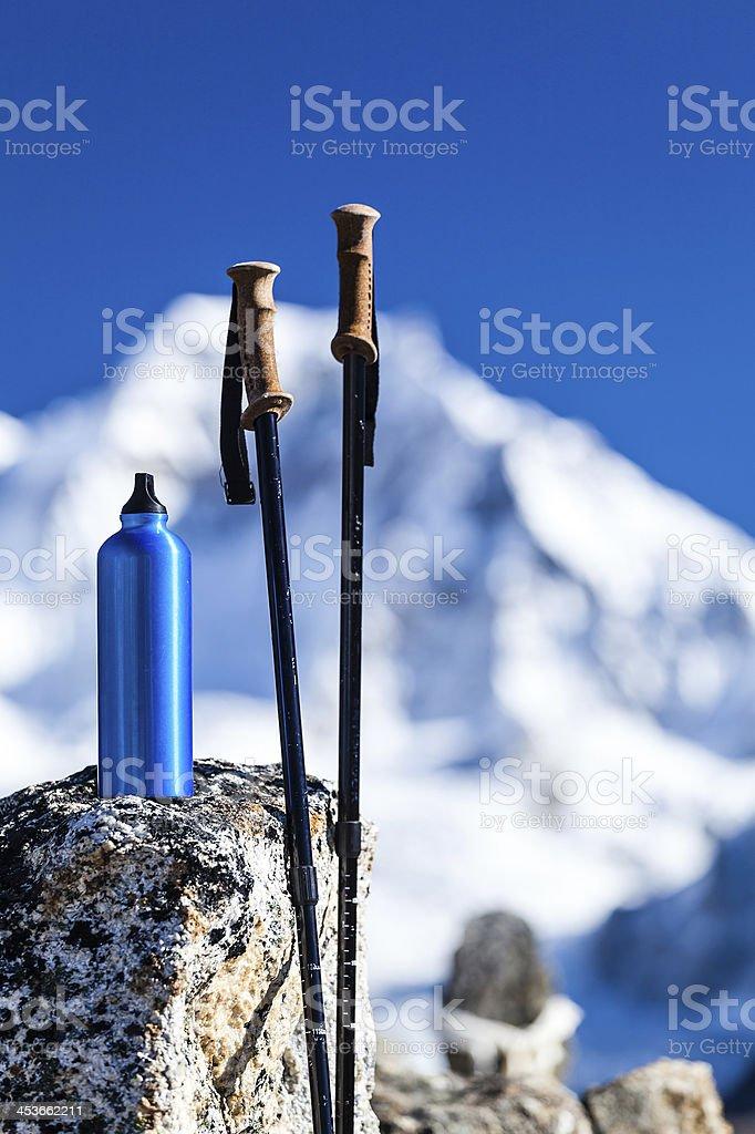 Hiking equipment, Himalayas royalty-free stock photo