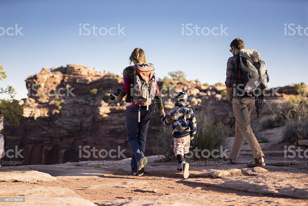 Hiking Family stock photo