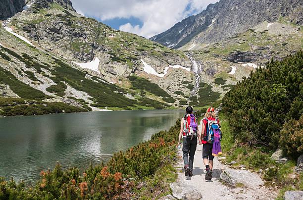 Wandern Freunden, Tatra-Gebirge – Foto