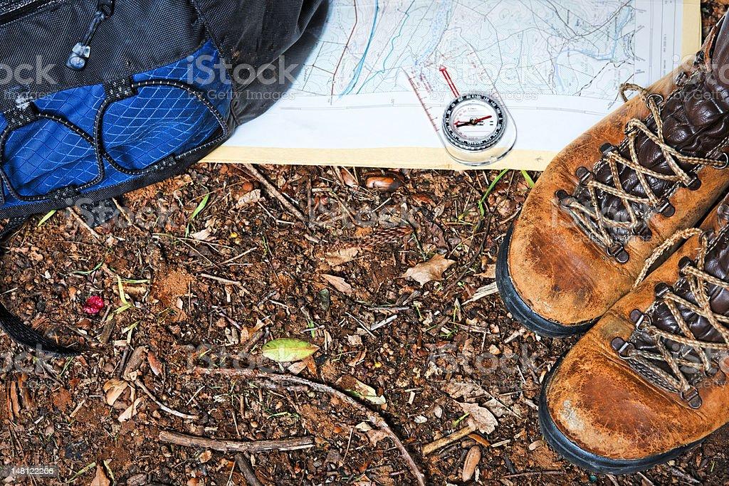 Hiking gear royalty-free stock photo