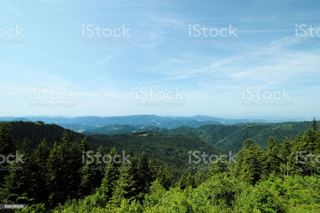 Hiking impressions from the Black Forest, Germany stock photo