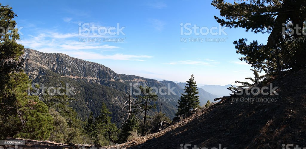 Hiking in Angeles National Forest - 100.75 MP stitched photo royalty-free stock photo