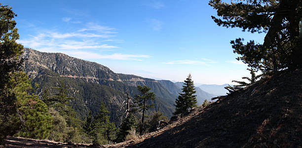 Hiking in Angeles National Forest - 100.75 MP stitched photo stock photo
