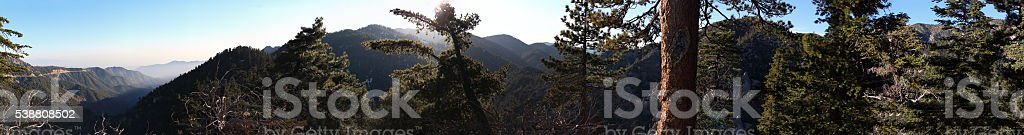 Hiking in Angeles National Forest - 172.37 MP stitched photo stock photo