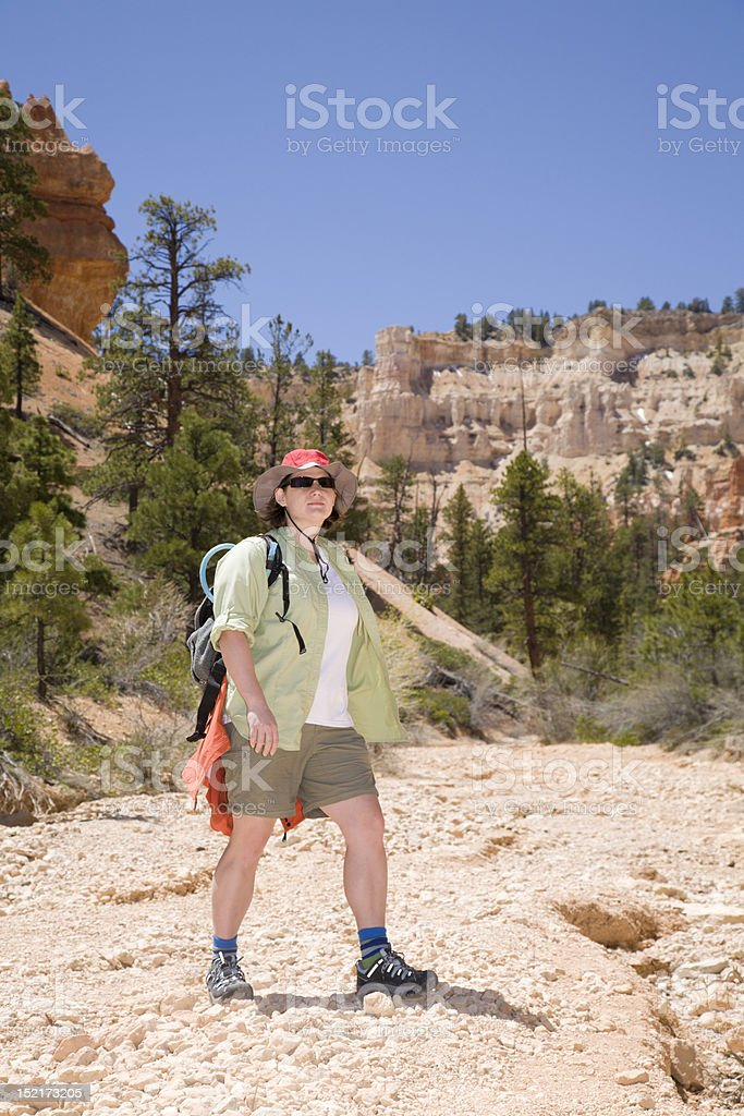 Hiking in Bryce Canyon royalty-free stock photo