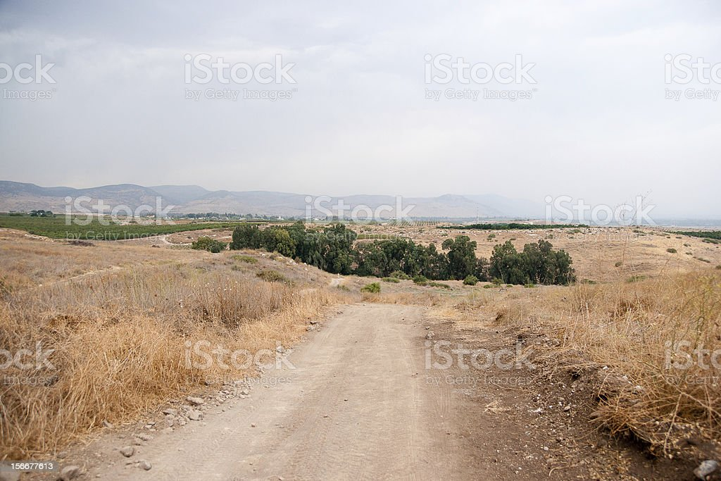 Hiking in galilee royalty-free stock photo
