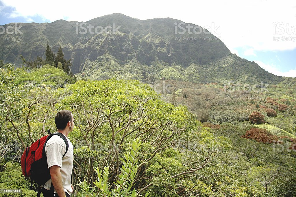 Hiking in Hawaii royalty-free stock photo