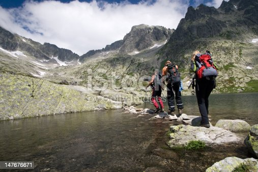 870409146 istock photo Hiking in high mountains 147676671