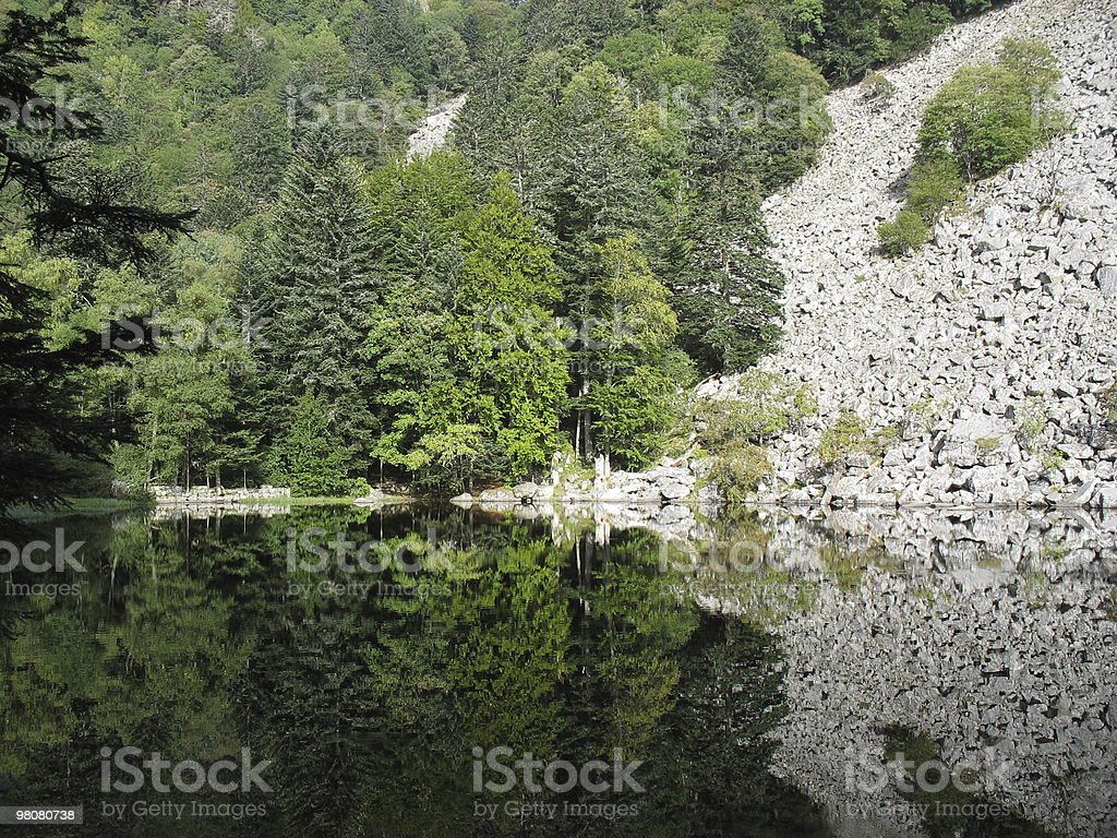 Hiking in Hohneck royalty-free stock photo