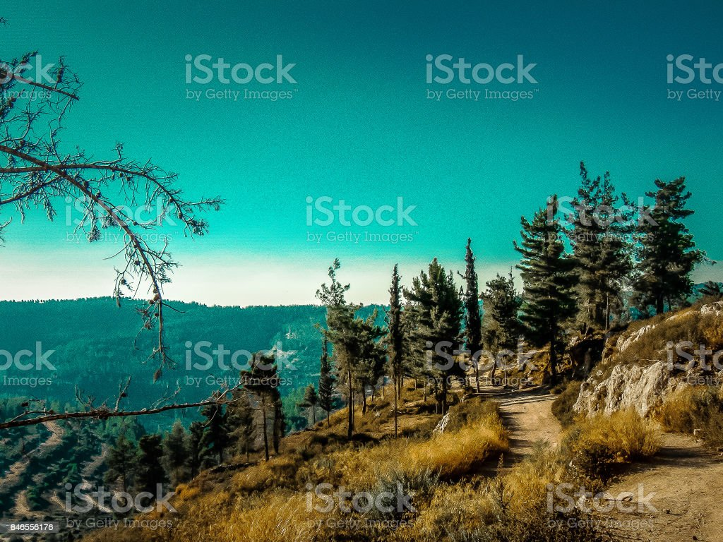 Hiking in Israel stock photo