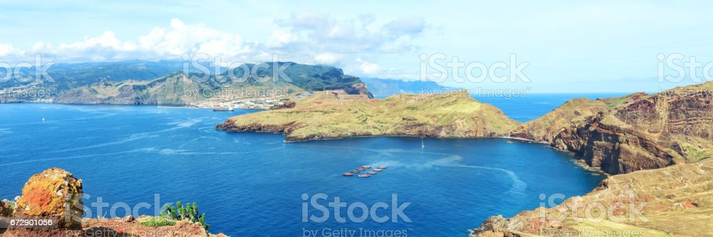 Hiking in Madeira stock photo