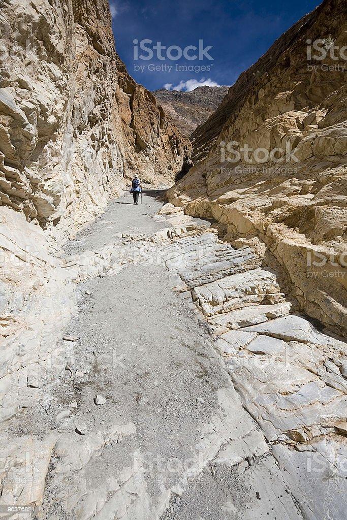 Hiking in Mosaic Canyon royalty-free stock photo
