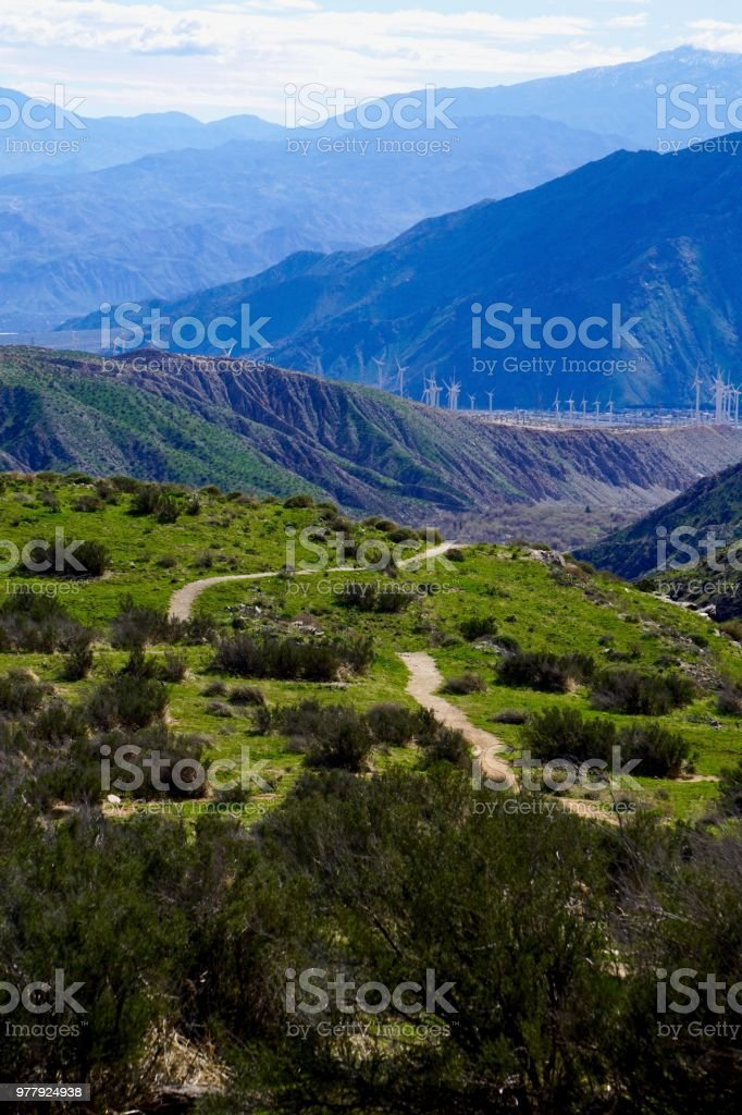 hiking in mountains in California stock photo