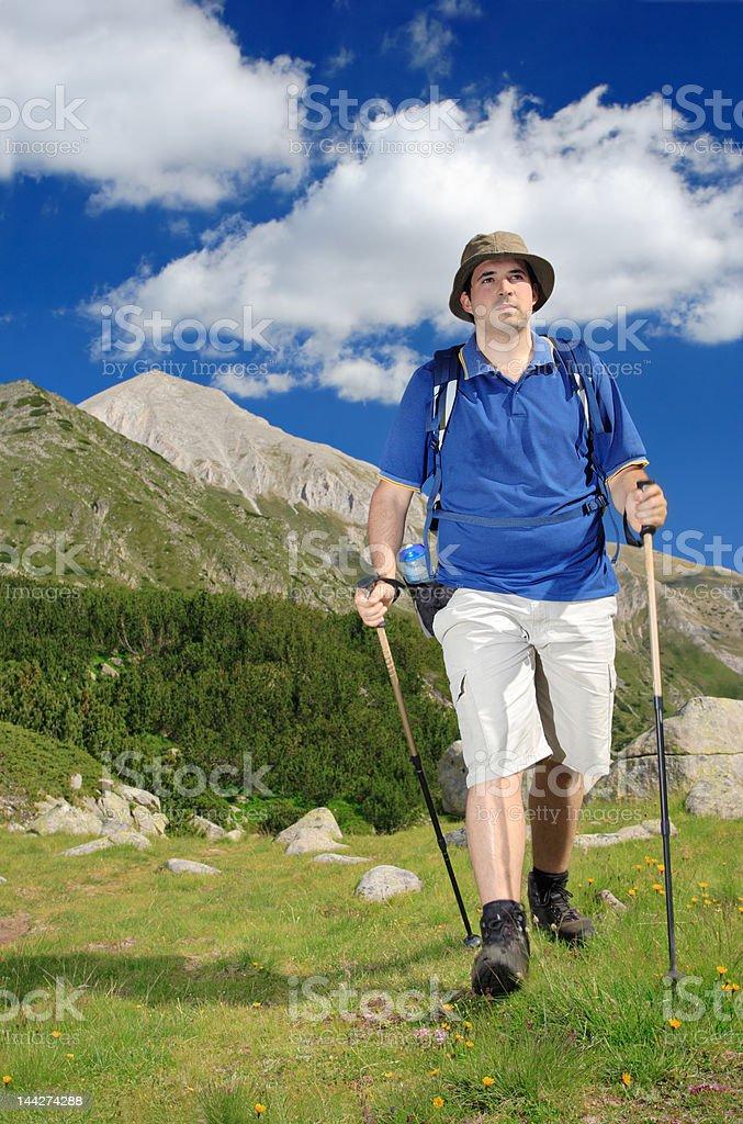 Hiking in national park Pirin, Bulgaria royalty-free stock photo