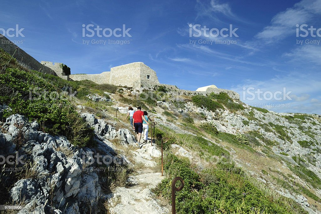 Hiking in Portugal royalty-free stock photo