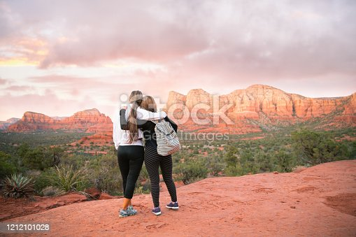 Lifelong friends love hiking outdoors. When they are together, the laughter, fresh air and strong connection with each other is all they need.