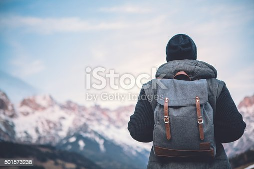 istock Hiking in solitude 501573238