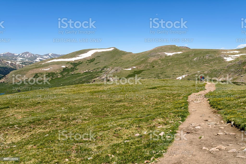Hiking in Spring Mountains stock photo