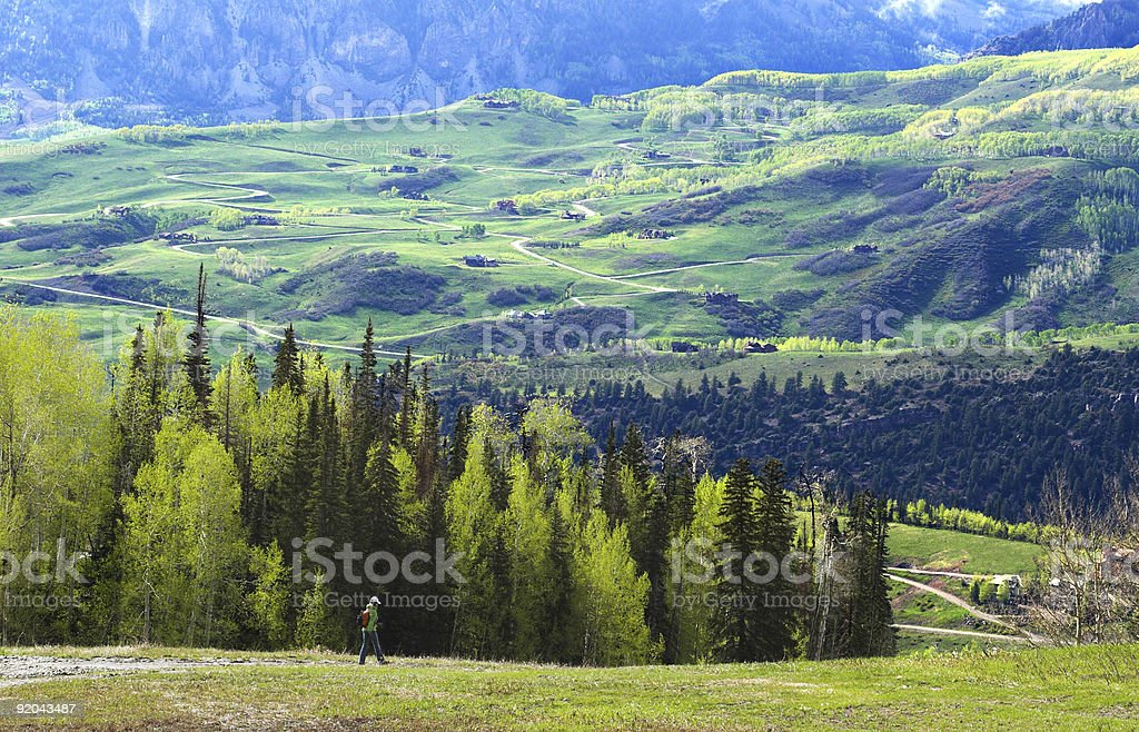 Hiking in Telluride royalty-free stock photo