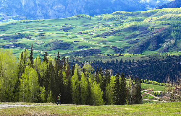 Hiking in Telluride  elevated walkway stock pictures, royalty-free photos & images