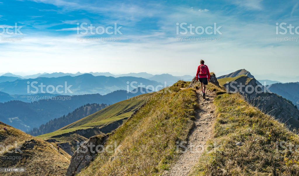 Hiking in the Allgaeu Alps - Royalty-free Adulto Foto de stock