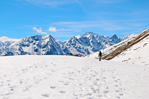 Hiking In The Alps Stock Photo - Download Image Now