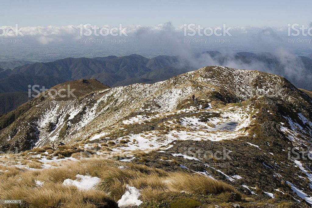 Hiking in the high country royalty-free stock photo