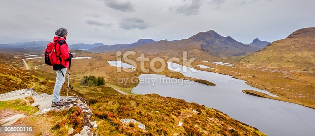 Hiking in the Knockan Crag National Nature Reserve, a globally important geological site located in the Scottish Highlands