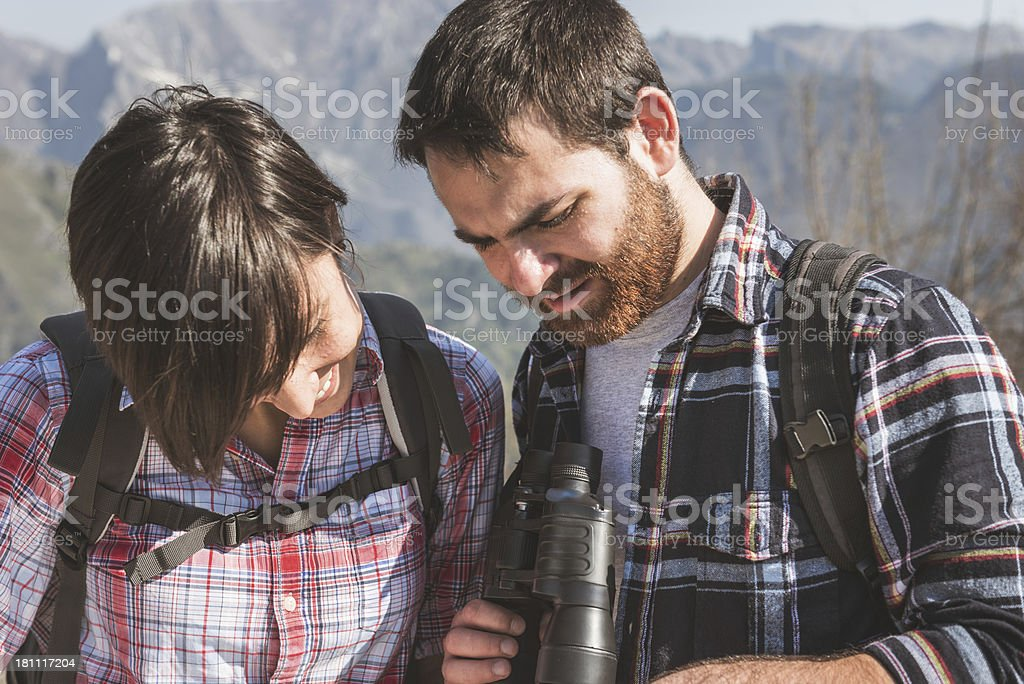 Hiking in the mountain royalty-free stock photo