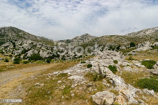 hiking in the mountains in Croatia