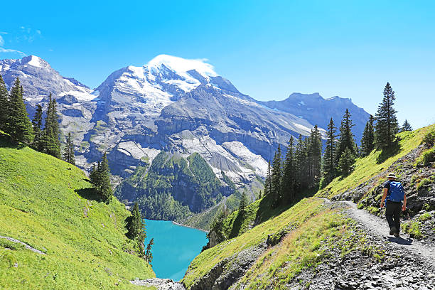 Hiking in the Mountains in Switzerland – Foto