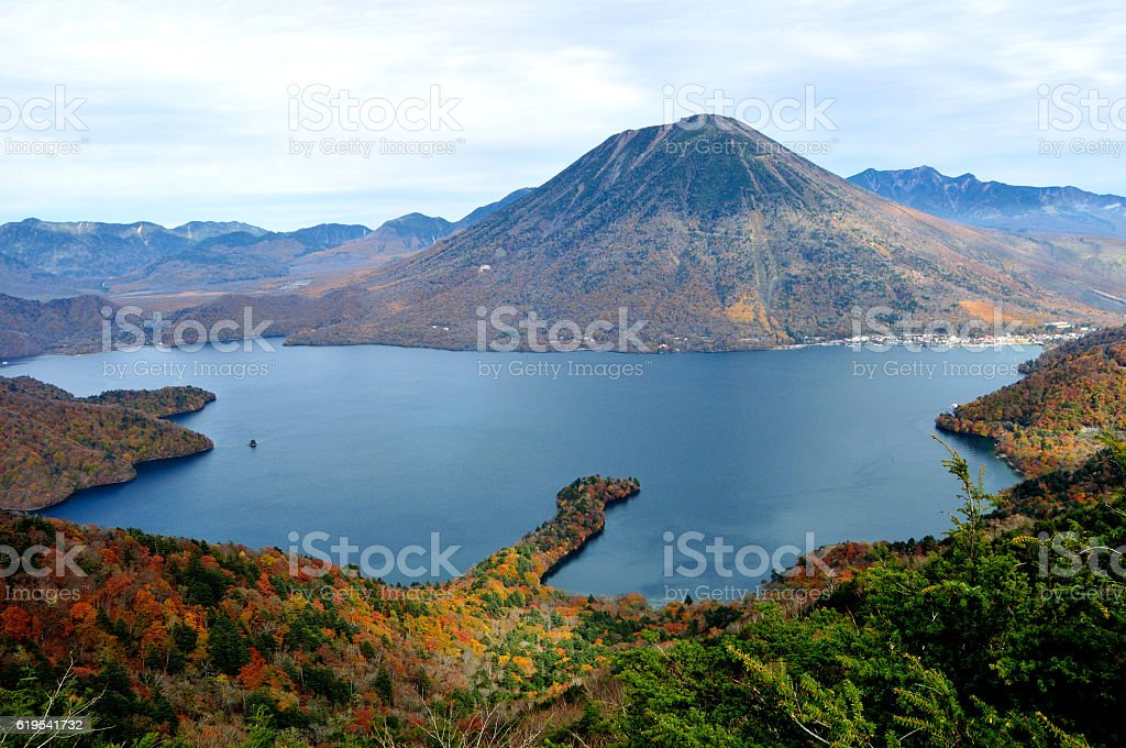 Hiking in the Mountains of Nikko stock photo