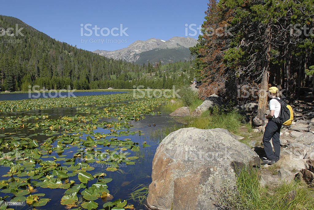 Hiking in the Rockies royalty-free stock photo