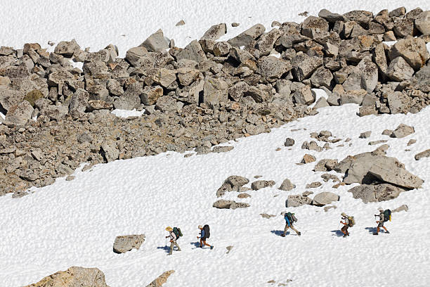 Hiking in the Sierra Nevada Mountains stock photo