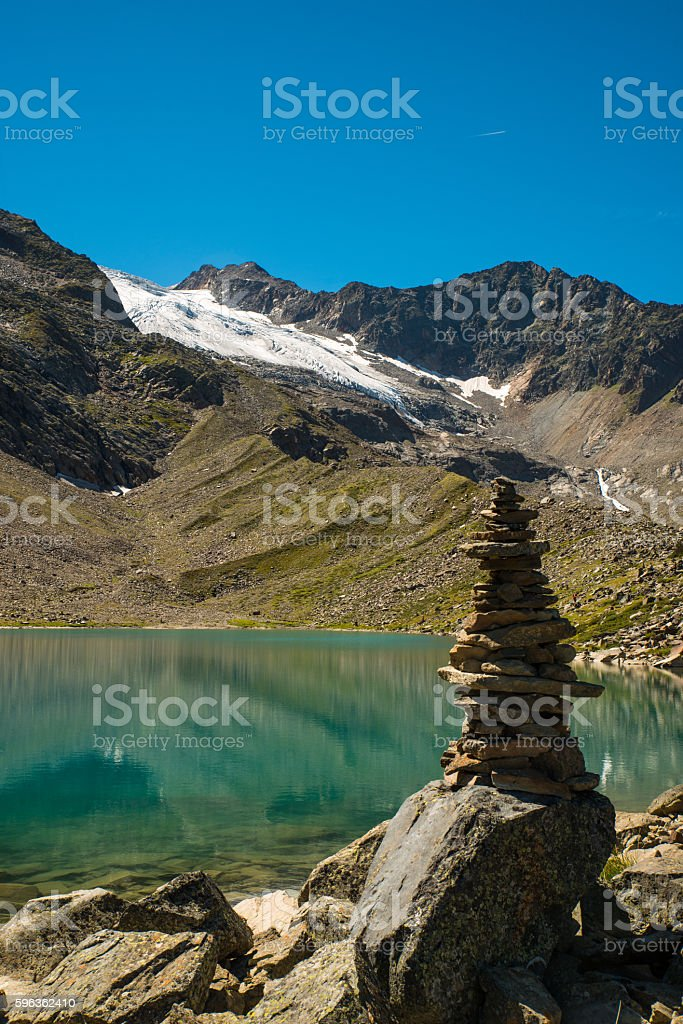 Hiking in the Tyrolean Alps royalty-free stock photo