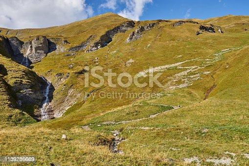 in the Alps of Tux in Austria