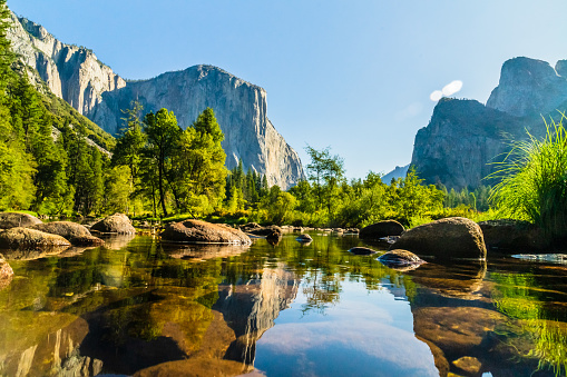 Beautiful nature pictures of the Yosemite National Park in California USA