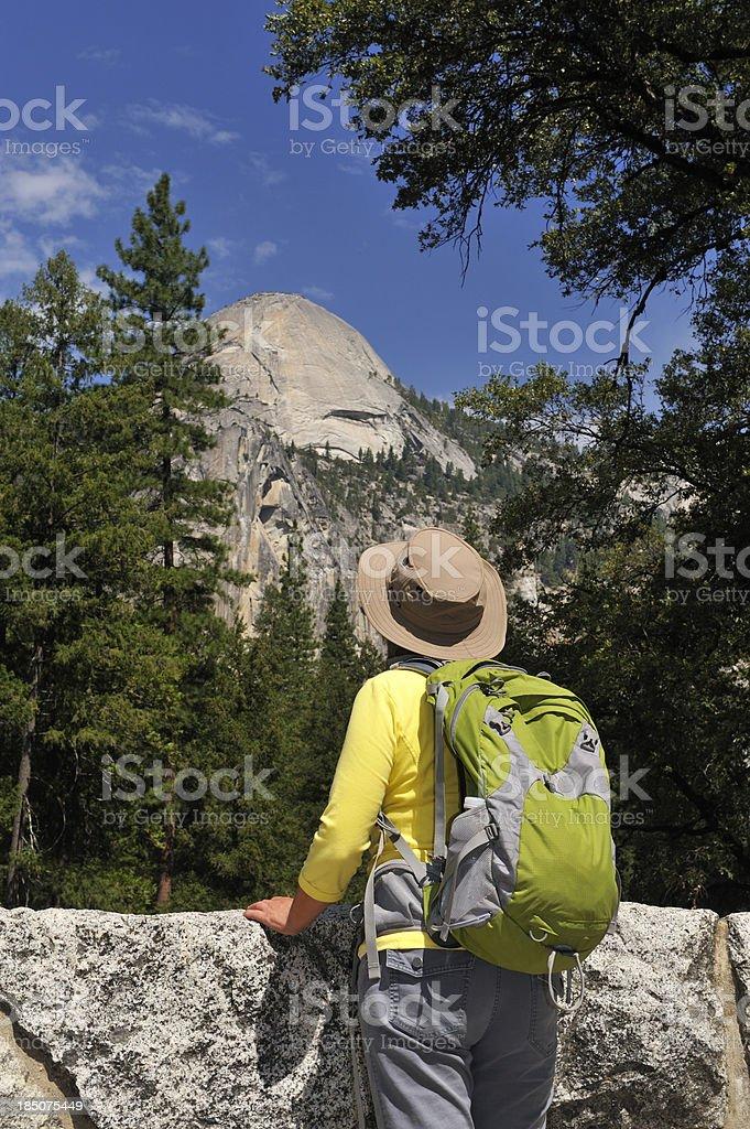 Hiking in Yosemite stock photo