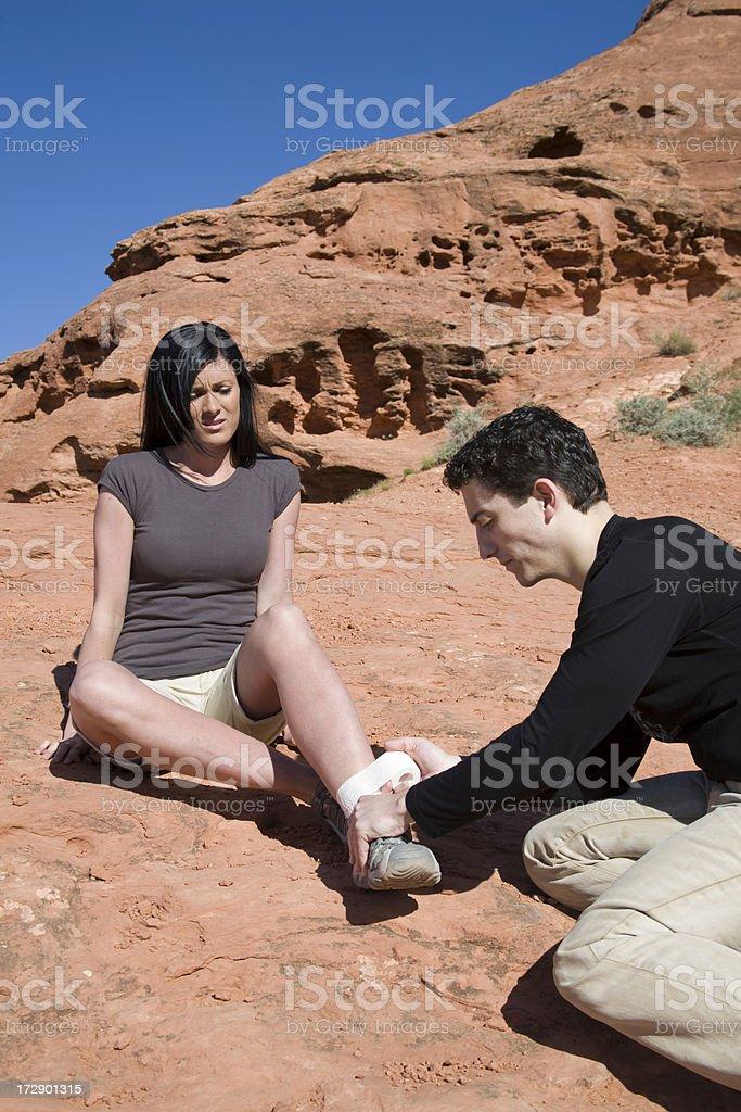 Hiking Injury royalty-free stock photo