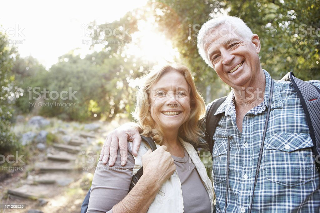 Hiking is our shared passion royalty-free stock photo