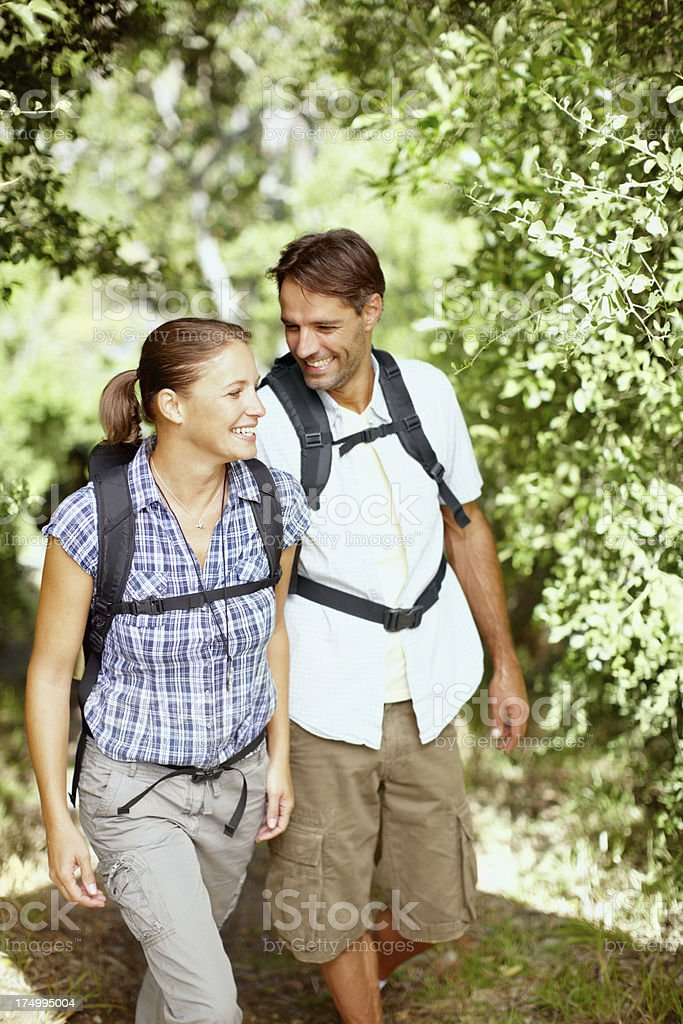 Hiking is the best excercise royalty-free stock photo