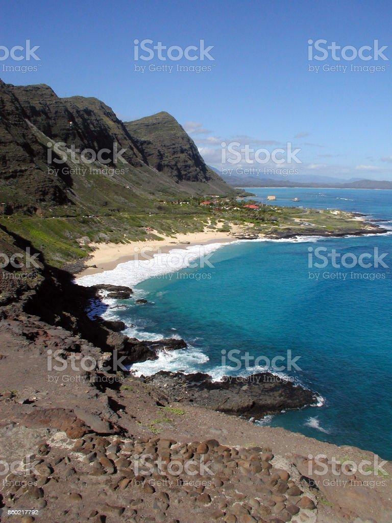 Hiking Makapuu stock photo