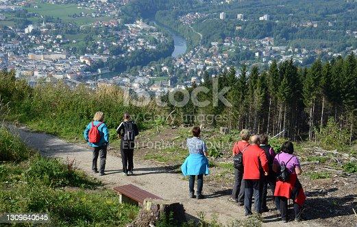 istock Hiking on Grünberg in Gmunden 1309640545