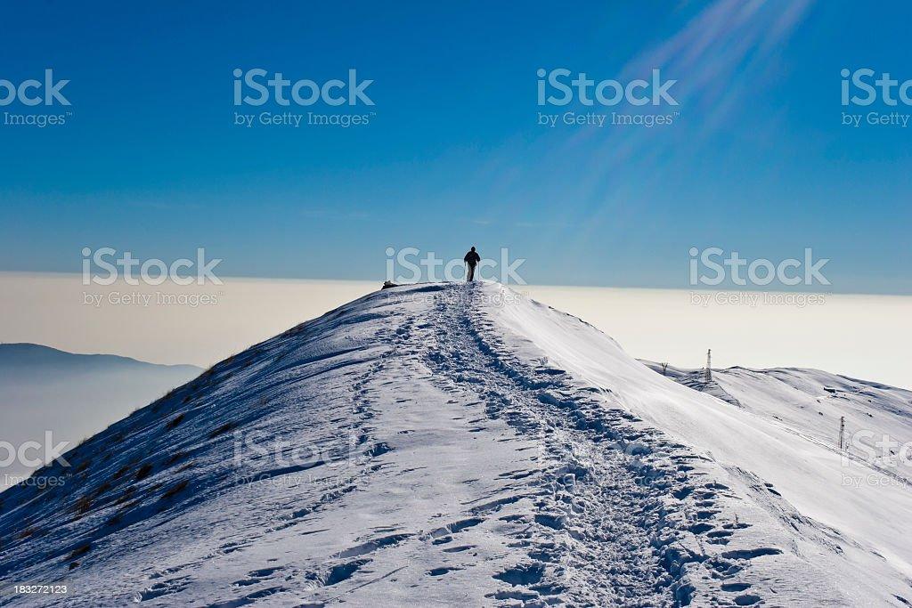Hiking on Monte Baldo royalty-free stock photo