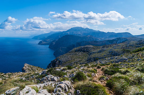 Hiking on the GR 221 in the Tramuntana, Mallorca, Spain – Foto