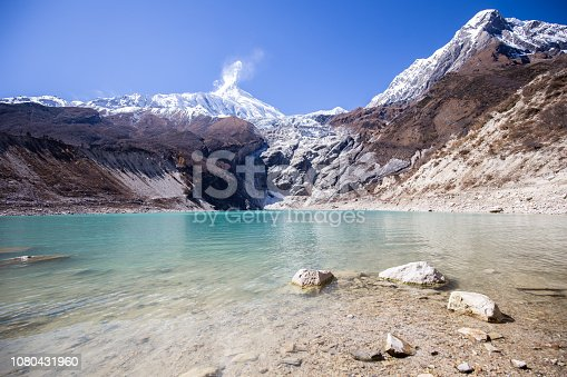 istock Hiking on the Manaslu circuit at Birendra Lake 1080431960