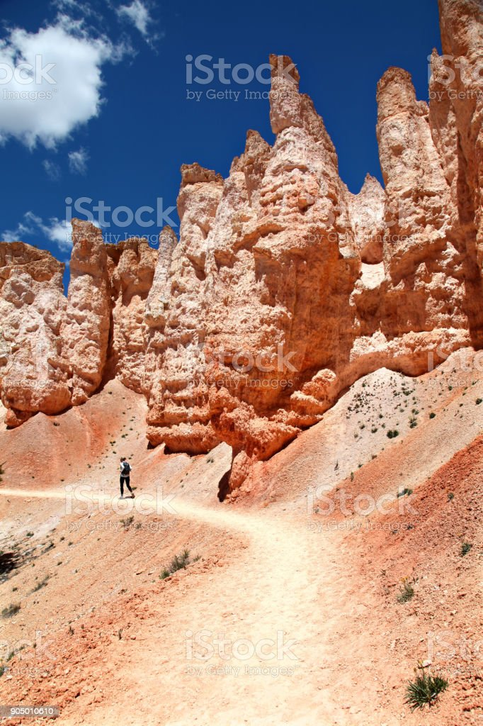 Hiking On The Tower Bridge Trail In Bryce Canyon National Park Stock Photo Download Image Now Istock