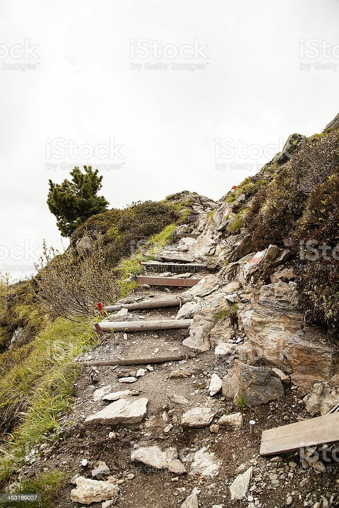 Hiking path in the Alps royalty-free stock photo