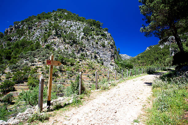 Hiking path, Majorca, Spain stock photo