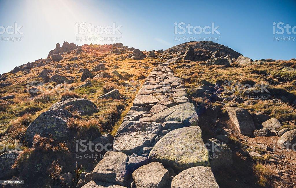 Hiking Path Uphill stock photo